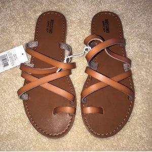 target tan cognac lina strappy sandals slides